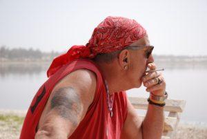 Baldo durante uno dei suoi molteplici viaggi nella sua amata Africa