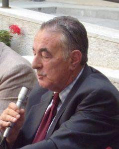 """Alberto Baldini in occasione della presentazione del suo libro di """"memorie"""" sui 40 anni del nostro basket"""